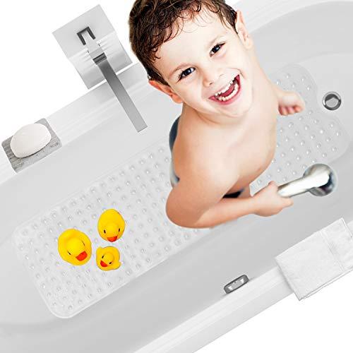 HBselect Badewannenmatte Anti rutsch Badematte Duschmatte Antirutschmatte rutschfest Badewanne für Kinder Alte 100 x 40cm Badewanneneinlage 200 x haftende Nopen an der Unterseite