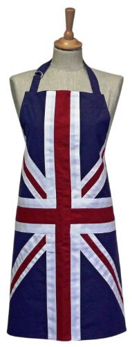 Sterck - 100% Cotton Adult Apron - Union Jack - Standard 70 x 78cms by Sterck