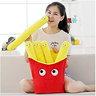 SYLTL French Fries Hugging Pillow, Simulation Creative Kids Christmas Adults Gift Toys Dolls,B