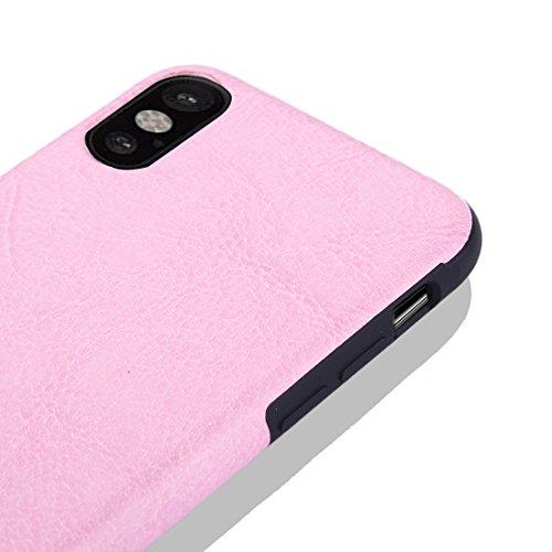 XYAL00020012 Xingyue Aile hoezen & hoezen voor iPhone X Crazy Horse Texture TPU + Plakken huid beschermende back cover case, Ip8g2156f