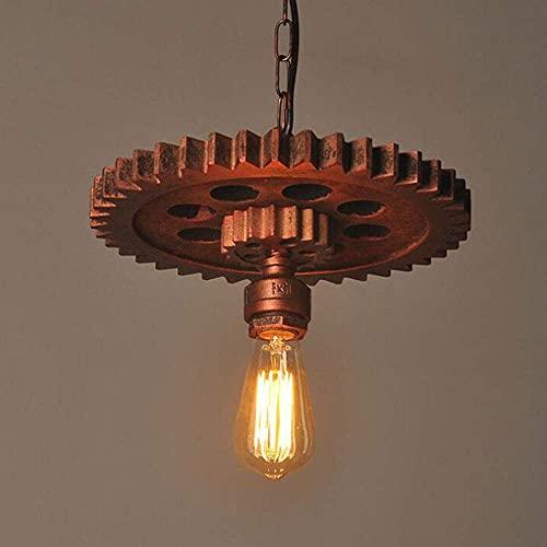 Industry Wind Light Vintage Loft Candelabro Habitación Dormitorio Comedor Bar Club Pub Restaurante Light Gear Cafe Lámpara Estilo Vintage Cocina Isla Luz de suspensión 1 luz