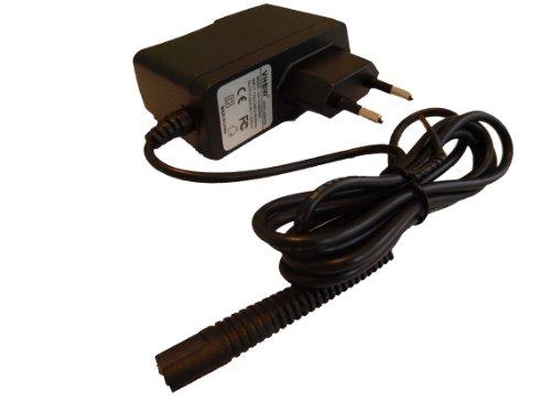 vhbw Alimentatore Caricabatterie 220V (6V/0.6A) compatibile con Braun CruZer 5 Head Hair Clipper HC3050, HC5050, HC5090 (Tipo 5427, 5429) rasoio