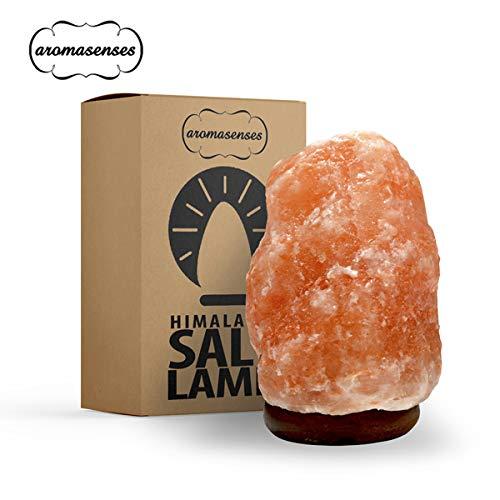 AROMASENSES Lámpara de Sal del Himalaya (2-3 kg) con Base