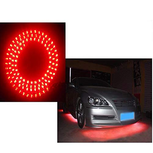 ZHUHAI HONGKANG DONGMAO TRADING CO LTD 2pcs 12V 120 LED Ampoule 120cm Flexible Great Wall Automobile LED Bandes Barre de lumière Automatique Rouge