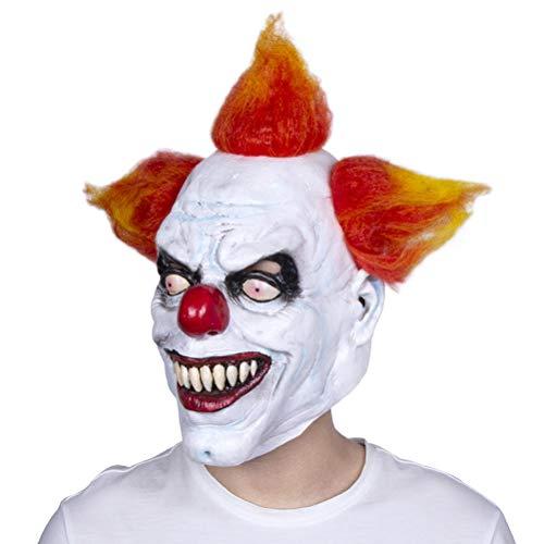 ZXCMNB Halloween-Maske, Erwachsenen Männer Latex Kopfbedeckung Horror Clown Maske Lächelnd Lustiges Gesicht Filmrequisiten Maskerade Maske