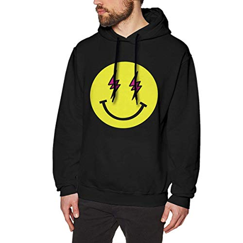 Ytdbh Men's Hoodie Pullover J-Balvin Hooded Sweatshirt Cotton Sweater Black