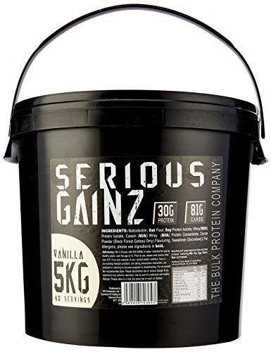 The Bulk Protein Company - Serious Gainz – Mass Gainer Protein Powder – Vanilla 5kg
