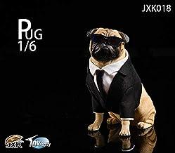 JXK studio Jxk018 Pug in Black-Frank 1/6 TH Animal Model Furnishing Articles