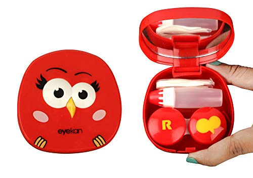 THE QUIRK BOX Angry Bird Travel Contact Lens Case Box - Red