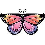 Dragon868 Heißer Cosplay Party Schmetterlings flügel Schal Schals Nymphe Pixie Poncho Karneval Kostüm Zubehör Kind Kinder Jungen Mädchen böhmischen Print 118*47cm (Mehrfarbig)