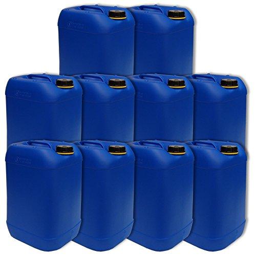 Lot di 10 bidoni, contenitore, tanica 25 L, HDPE colore blu DIN 61 qualità alimentare (10x22248)