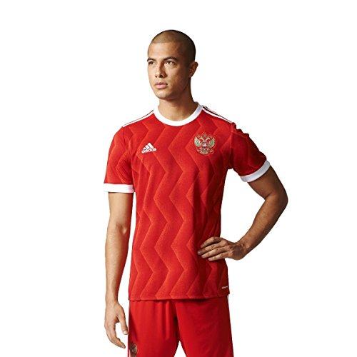 adidas Rfu H Jsy Camiseta Oficial 1ª Equipación Unión de Fútbol Rusa, Hombre, Rojo (Escarl/Blanco), XL