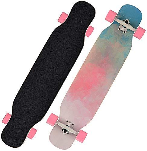 Longboard Skateboards Dance Skate Board Komplett Cruiser Tanzen Longboard Ahornholz Outdoor Freeride für Jugendliche Erwachsene Kinder Anfänger Erwachsene Jungen Mädchen (Traum)