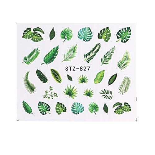 Hermione Hosmer Feuille D'ongle Autocollants de Vernis Mélange Rose Fleur Nail Art Water Transfer Sticker Decals Flower Leaf Summer DIY Manicure Decor Multicolor D