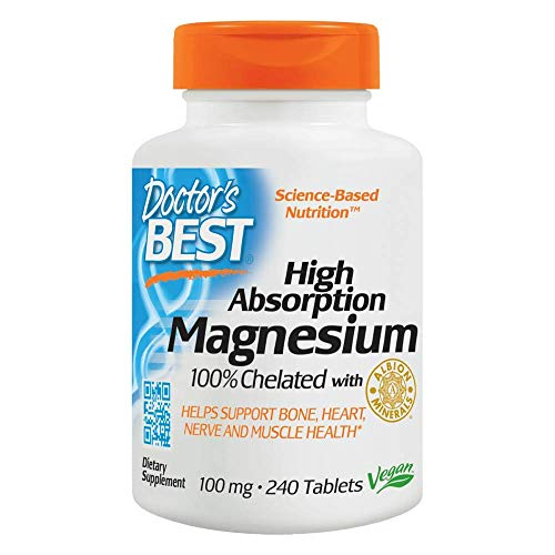 Doctor's Best, High Absorption Magnesium, 100 mg, 240 vegane Tabletten, sojafrei, glutenfrei