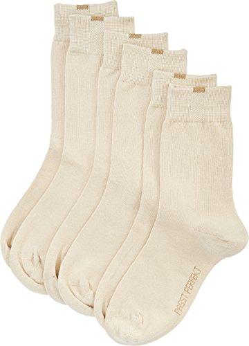Nur Die 487819/Damen Passt Perfekt Socken 3er Calcetines, Opaco, Beige (beige 355), 35/38 para Mujer