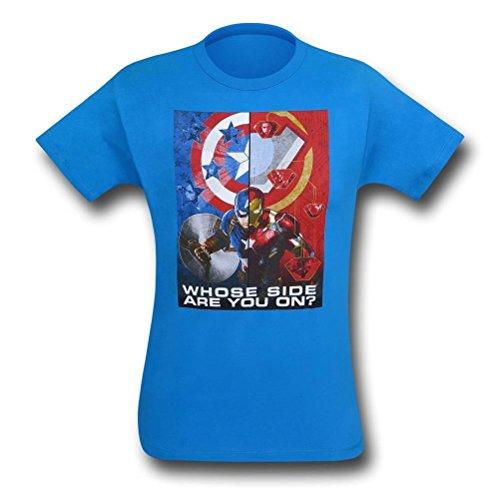 Camiseta infantil Capitão América Guerra Civil Make A Choice, Azul, L