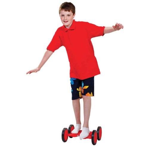 Tobar 08484 Pedalrenner für Kinder, ca. 36 cm groß in rot, Pedalroller trainiert spielerisch Balance, Gleichgewicht und Koordination