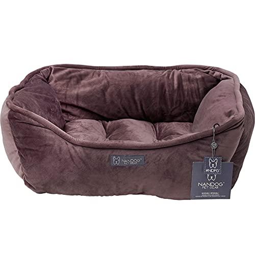 NANDOG Cama ortopédica para perros, cama reversible, cojín para perros, sofá lavable