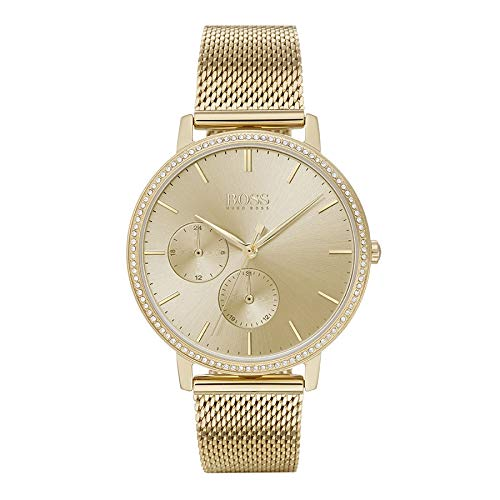 Hugo BOSS Reloj para Mujer de Cuarzo con Correa en Acero Inoxidable 1502520