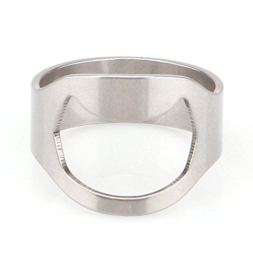 ONEVER apribottiglie, 20 mm Unico creativo versatile in acciaio inossidabile con anellino a forma di anello apribottiglie per birra