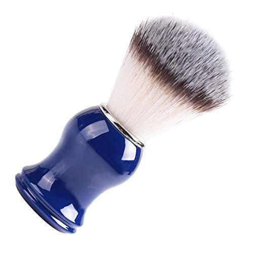 【𝐁𝐥𝐚𝐜𝐤 𝐅𝐫𝐢𝐝𝐚𝒚】Brocha de afeitar, Brocha de afeitar para hombres, Mango de resina Uso de salón de peluquería multifuncional Uso personal(Nylon wool blue handle (no logo))