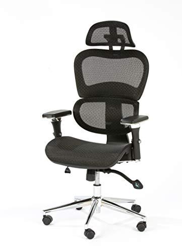 Özel-Versand - Silla de oficina ergonómica, color negro