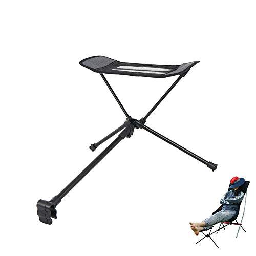 フットレスト 足置き 折りたたみ 椅子用 コンパクト キャンプ 携帯便利 アウトドア お釣り 登山 収納袋付 (黑)
