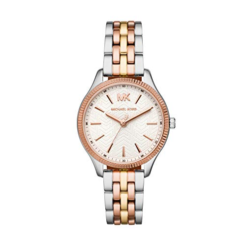 Michael Kors Damen Analog Quarz Uhr mit Edelstahl Armband MK6642