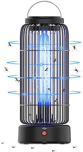 VIFLYKOO Assassino Elettrico per Insetti, 12w 60㎡ UV Trappola per Insetti Antizanzare Lampada Anti-elettrica Elettrica Antizanzare,1100-1300V Efficace per Uccidere Le Zanzare