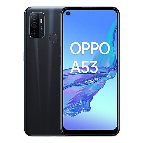 """Oppo A53 – Pantalla de 6.5"""" (Neo-Display de 90Hz, 4GB/64 GB, Snapdragon 460, 5000mAh, Carga Rápida 18W, Triple Cámara con IA, Dual Sim) Electric Black [Versión ES/PT]"""