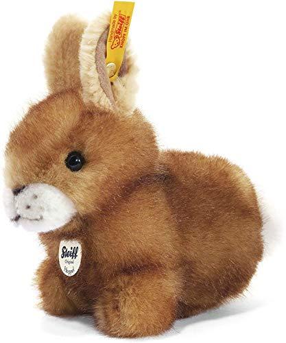 Steiff 080081 Hoppel 14 braun gespitzt sitzend Hase