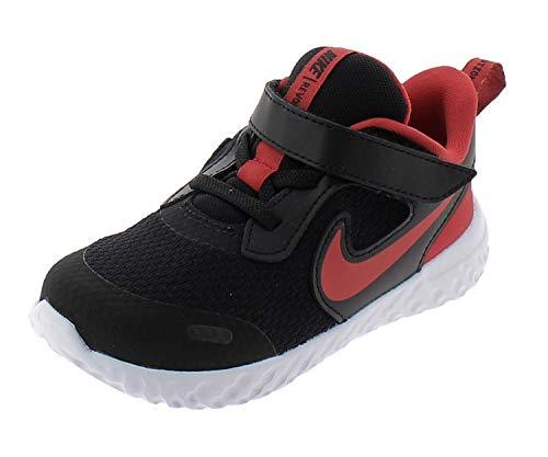 Nike Jungen Unisex Kinder Revolution 5 Running Shoe, Black/University Red-White, 27 EU