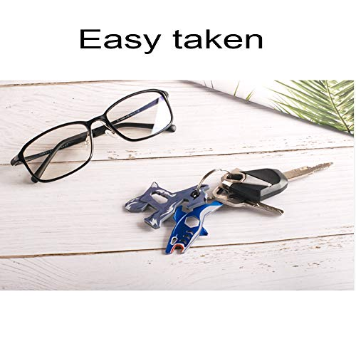 Product Image 5: Keychain Multi-Tool EDC Mini-Tool 7-in-1 Key Tool (Bottle Opener Screw Driver 5.5/7/8/10mm Wrench) Stainless Steel (key chain size,shark)