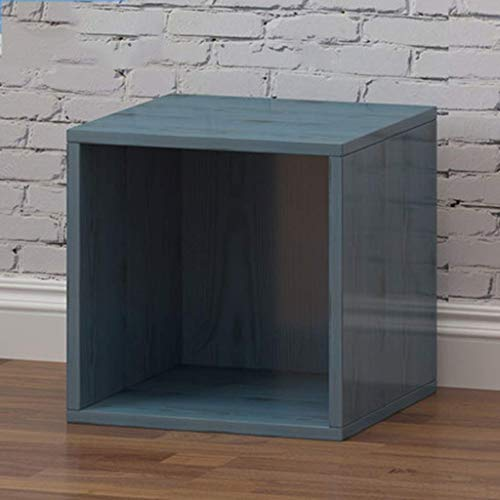 N/Z Equipo para el hogar Caja de Madera para álbum de 12 Pulgadas Almacenamiento de Discos de Vinilo Armario de Archivo para Oficina en casa (Color: Azul Tamaño: D)