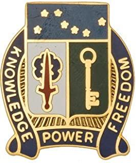 250th Military Intelligence Bn Unit Crest (Knowledge Power Freedom)