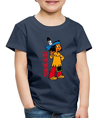 Yakari Indianer Hey Du Kinder Premium T-Shirt, 134-140, Navy
