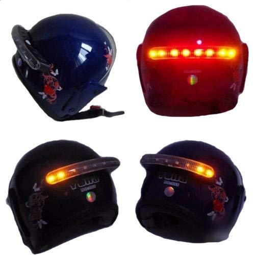 Sans fil DC 12V LED moto casque montage clignotant stop frein lumière courante