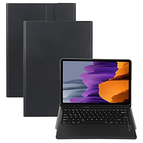 LWL House Caso Teclado de Bluetooth Desmontable A970B Funda de Cuero Horizontal Ultrafina con Ranura para bolígrafo para Samsung Galaxy Tab S7 FE T730 / T736 / S7 + T970 / T975 / T976 (Color : Black)