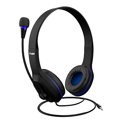 Digitek Wired Stereo Headphones with Mic | for Work from Home | E-Learning | Video Conferencing | Online Classes & Tele Calling (DHM-001), Black, 40mm
