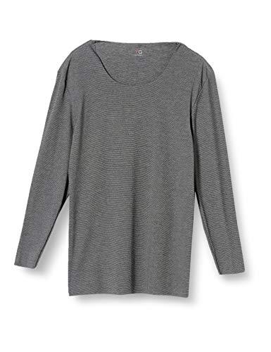 [グンゼ] インナーシャツ YG Cut OFFシリーズ クルーネック9分袖 YV1508 メンズ ブラックモク 日本M (日本サイズM相当)
