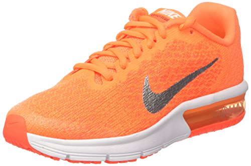 Nike Air Max Sequent 2 GS, Scarpe da Ginnastica Bambino, Arancione (Tart/Mtlc Silver/Total Crimson/Hyper Orange/White/Volt), 38.5 EU