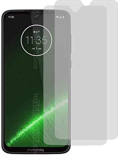 4ProTec I 2X Crystal Clear klar Schutzfolie für Motorola Moto G7 Plus Bildschirmschutzfolie Displayschutzfolie Schutzhülle Bildschirmschutz Bildschirmfolie Folie