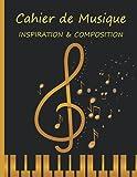 Cahier de Musique INSPIRATION & COMPOSITION: Carnet de partitions et papier manuscrit ; 12 portées par page , 120 pages , carnet de musique pour ... les musiciens, débutants ou professionnels,