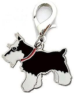RONSHIN Metal Dog Key Chain Lovely Puppy Pendant Keyring Keychain Woman Bag Charm Gift Black Schnauzer 2.5cm