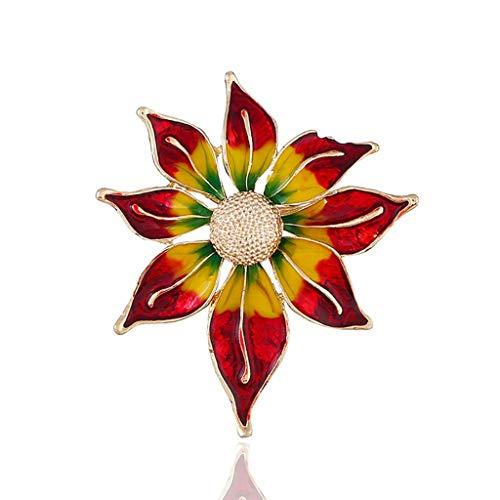 SSMDYLYM Broche Color de Flor, Las señoras de la aleación de la Broche de Vestido Elegante de la decoración del Bolso de Accesorios Pin