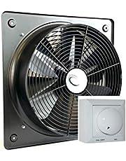 Uzman-Versand Industriële wandventilator, 500 mm, met 500 watt, draadrehas-regelaar, axiale ventilator, wandventilator, raamventilator, axiaalventilator