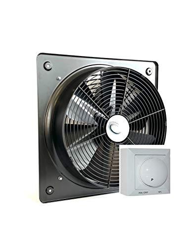 600mm Ventilador Industrial con 500 Watt REGULADOR de Velocidad Ventilación Metal Extractor Ventiladores ventiladore axiales extractores aspiracion mura pared