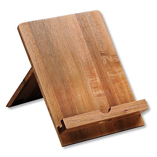 Kesper Tablet-und Kochbuchhalter, Holz, Braun, 18 x 23 x 19 cm