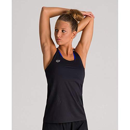 ARENA Damen A-One Mesh Tank Top Camiseta de Tirantes, Mujer, Negro Reflex, Medium